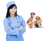 Specialist vet smiling Royalty Free Stock Images