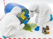 Specialists at biohazard accident Royalty Free Stock Photography