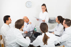 Specialists  having discussion Stock Image
