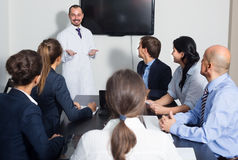 Specialists  having discussion Stock Photo