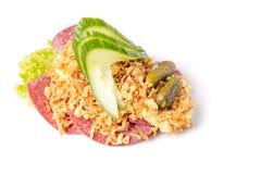 Specialità danesi e piatti nazionali, panino aperto di alta qualità Fotografia Stock Libera da Diritti
