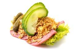 Specialità danesi e piatti nazionali, panino aperto di alta qualità Fotografia Stock