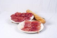 Specialità gastronomiche della carne Immagini Stock