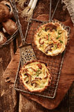Speciality autumn cuisine with fresh fungi Royalty Free Stock Image