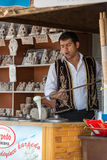 The speciality of Cappadocia ice-cream  from the goat's milk Royalty Free Stock Image