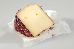 Speciality cheese flavored with rose petals Stock Photo