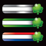 Specialized banners with green shamrock. Green shamrock on specialized banners Royalty Free Stock Photo