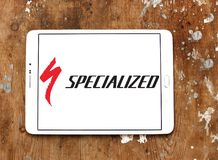 Specialized Bicycle Components logo. Logo of Specialized Bicycle Components on samsung tablet. Specialized is a United States based company that designs stock photo