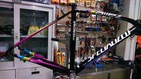 Specialized. Bike frame specilaized road bike Stock Photography