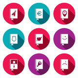 Specialized face book icon collection. Specialized face book icon set on a colored background Royalty Free Stock Photography