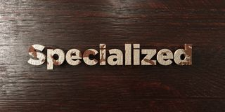Specialized - grungy wooden headline on Maple  - 3D rendered royalty free stock image. This image can be used for an online website banner ad or a print Stock Image