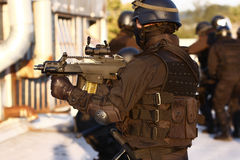 Specialized officers. In full tactical gear Stock Image