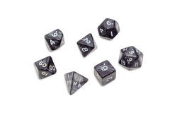 Specialized polyhedral dice for role-playing games Royalty Free Stock Images