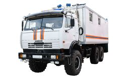 Specialized truck to transport people Stock Photo