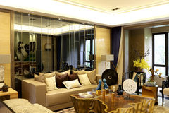 Specially designed apartment living room Stock Images