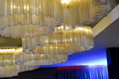 Specially designed curved ceiling. With artistic and different colors Stock Images