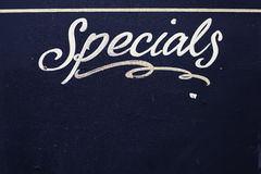 Specials. Board made of wood and painted black Royalty Free Stock Images