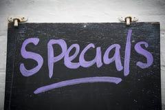 Specials auf Tafel Lizenzfreie Stockfotos