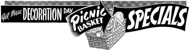 Specials da cesta do piquenique Imagens de Stock Royalty Free