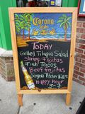Specials of the Day. Photo of sign at a mexican restaurant at rehoboth beach delaware on 9/1/12 for labor day weekend Royalty Free Stock Image