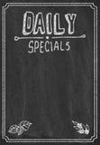 Daily specials menu. On blackboard Stock Image