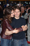 The Specials,Tom Cruise,Katie Holmes. Actor TOM CRUISE & fiance actress KATIE HOLMES at the special fan screening of his movie War of the Worlds at the Grauman's Royalty Free Stock Photos