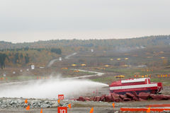 Specialt brandbekämpningmedel SPM Arkivfoto