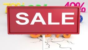 Specialt erbjudande, försäljning, rabatt arkivfilmer
