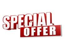 Specialt erbjudande i bokstäver 3d och kvarter Royaltyfria Foton