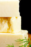Specialty cheese. Close up with dill Royalty Free Stock Photos
