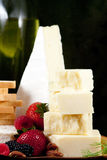 Specialty cheese. With berries and french toast Stock Image