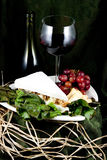 Specialty cheese. With walnuts and wine Stock Photo