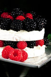 Specialty cheese. Brie cake close-up Royalty Free Stock Photo