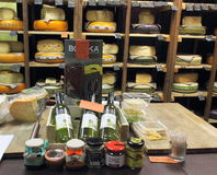 Specialty cheese shop Royalty Free Stock Photography