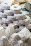 Specialty goat cheese display Stock Image