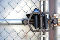Gate hinge Stock Image