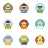 Specialty icons set, flat style Royalty Free Stock Photos