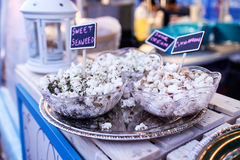 Specialty popcorn at night market Royalty Free Stock Photos