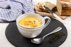 Specialty from scotland, freshly cooked cullen skink with thyme Stock Photography