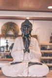 Specialty shop for Buddha statues and other religious items, Bali island, Indonesia. Colored buddha. Stock Photos