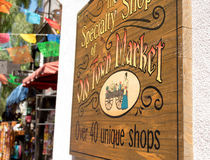 Specialty Shops of Old Town Market, San Diego, California. Entry to Old Town Market, San Diego, California for hand crafted shopping Royalty Free Stock Photography