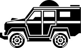 Specialty Vehicle. Swat team simple suv Stock Photography