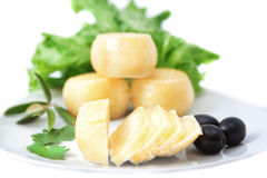 Species of cheeses on a plate Royalty Free Stock Photo