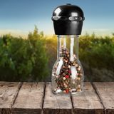 Species. Pepper bottle food condiment glass italian culture Stock Photos