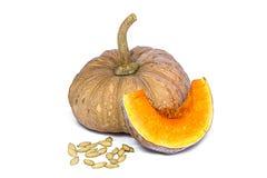 Species thai pumpkin  on white background Stock Images