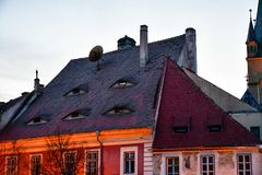 Roofs eyes stock images