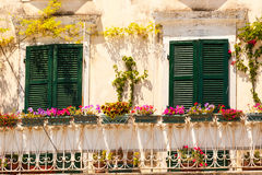 Specific old Corfu Town facades, Greece Stock Photography
