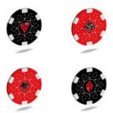 A specific set of 3D chips for casinos and games of gambling in stock illustration