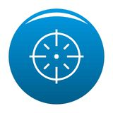 Specific target icon blue vector Stock Photography