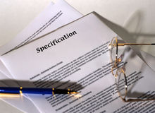 Specification royalty free stock images